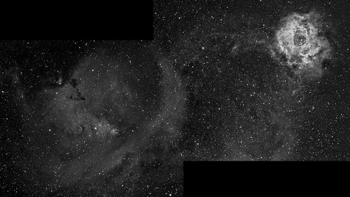 Cone & Rosette Nebula by Mick Hyde