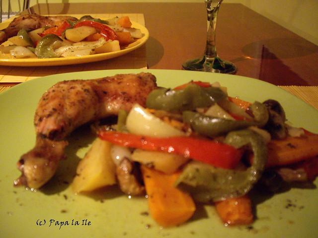 Pulpe de pui cu legume la cuptor (8)