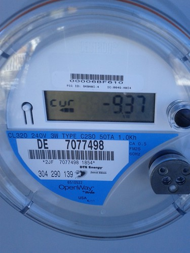 GO CH electric meter negative consumption on 12/24/2013