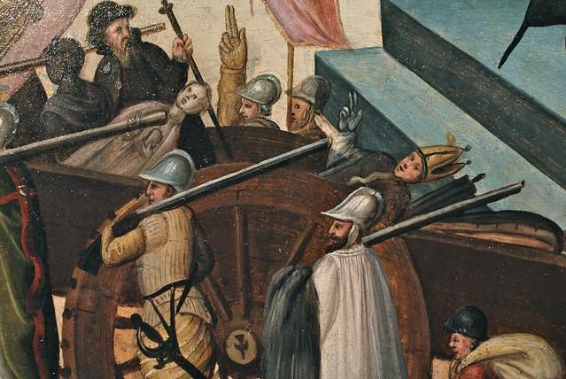 Peinture représentant la destruction des statues catholiques par les protestants.