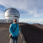 Emily at the summit of Mauna Kea