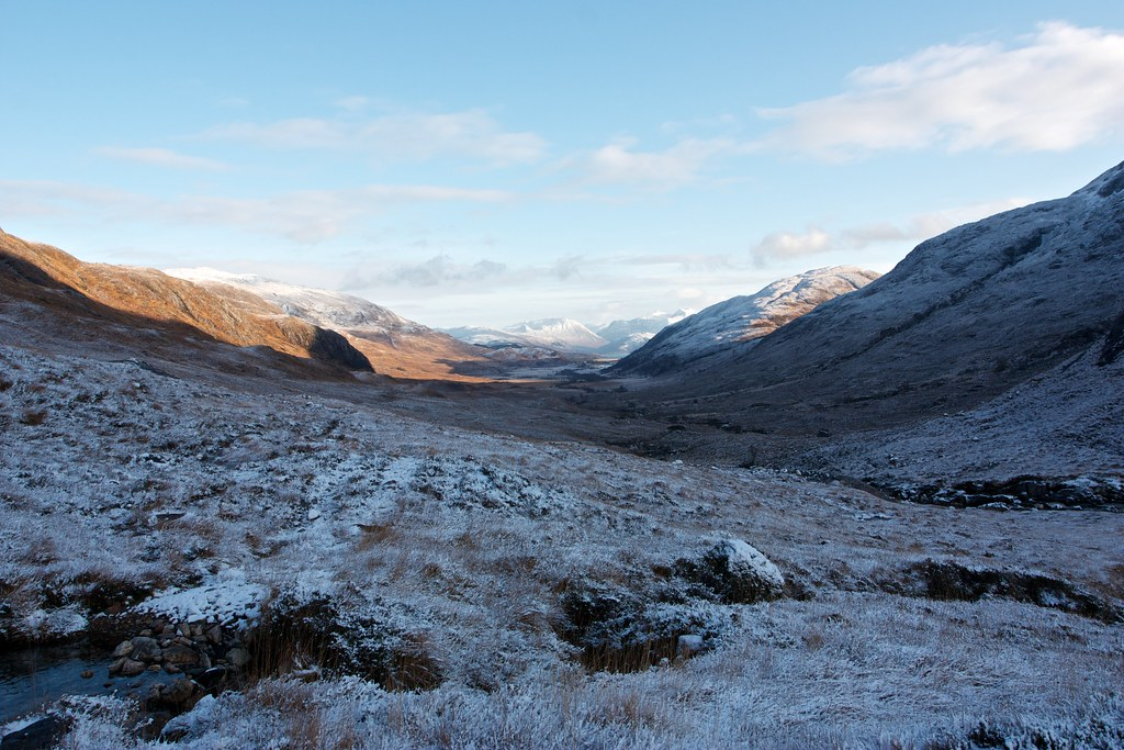 Heading back down Glen Gour