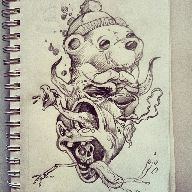 Quick Sketch In Between Jobs Sketchy Wip Ideas Drawin Flickr