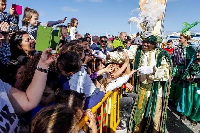 Llegada de los RR.MM. a Las Palmas de Gran Canaria