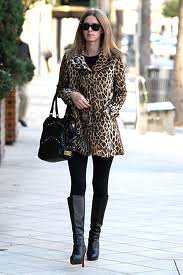Nicky Hilton Leopard Print Coat Celebrity Style Women's Fashion