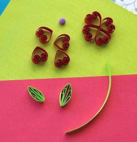 Quilled Heart Flower Card Tutorial