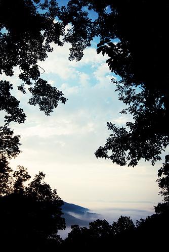 silhouette sunrise appalachianmountains
