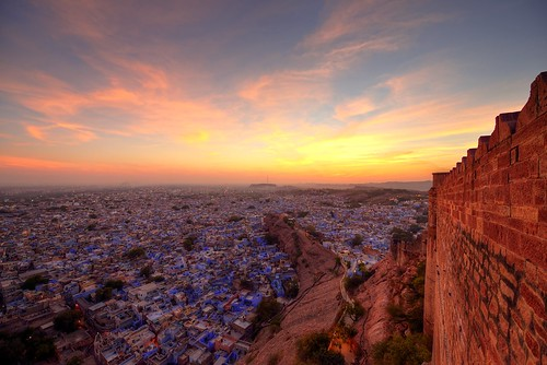 blue sunset india castle nikon fort hdr rajasthan inde jodhpur d800 mehrangarh bluecity photomatix