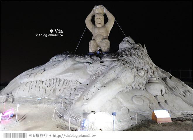 【2014台灣燈會在南投】南投沙雕燈會~夜間點燈好浪漫!還有精彩光雕秀23