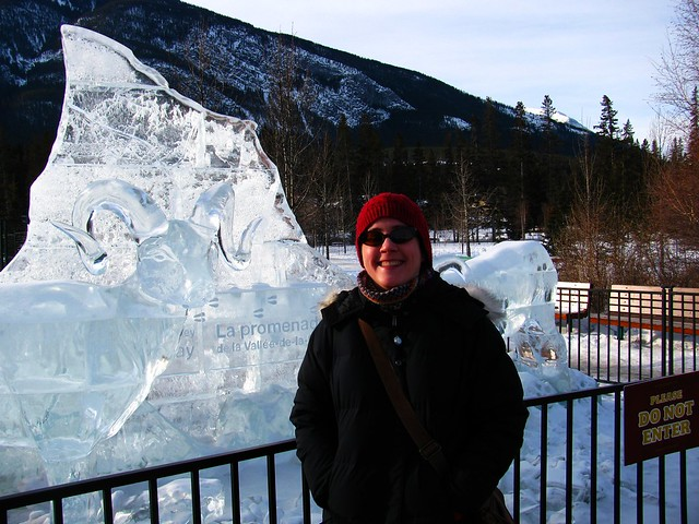 Me and ice sculpture.