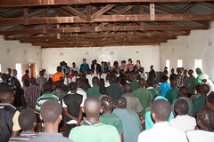 School Assembly at Sinanjola