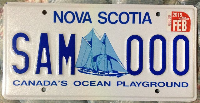 NOVA SCOTIA 2015--- SAMPLE PLATE