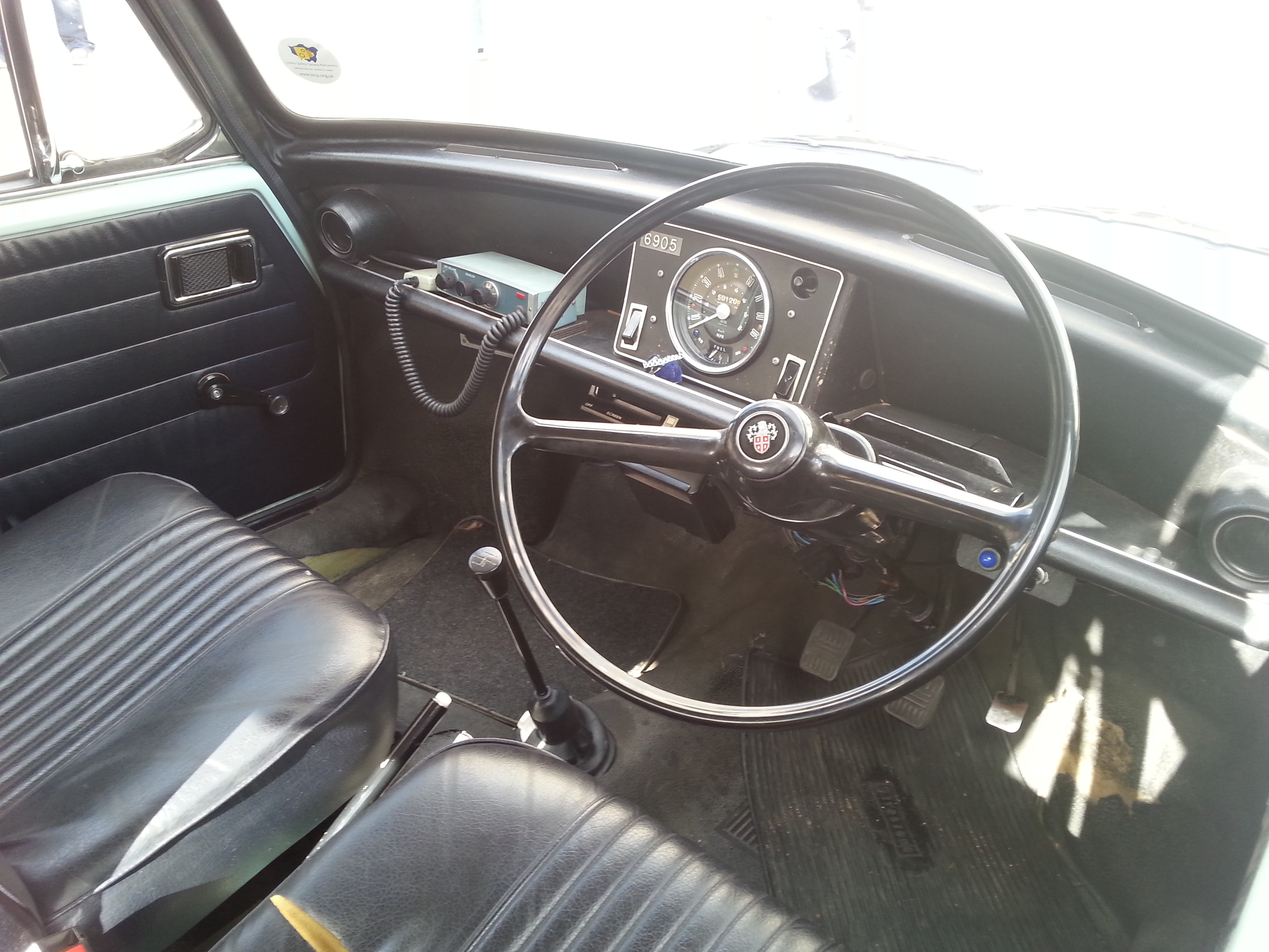 1973 austin 1100 police car interior i managed to get a pi flickr photo sharing. Black Bedroom Furniture Sets. Home Design Ideas