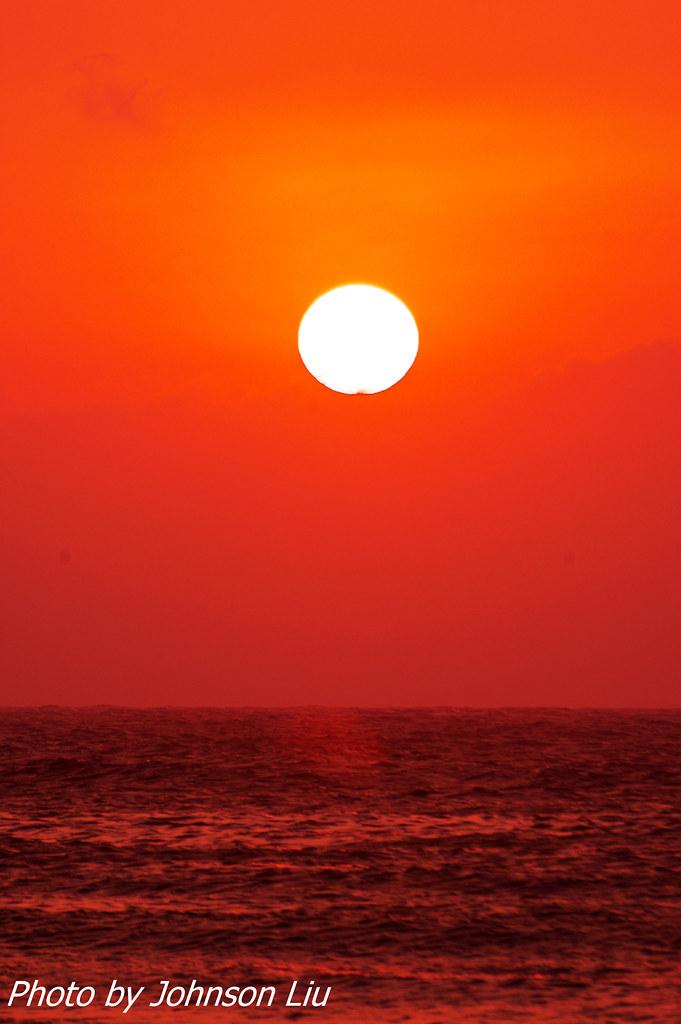 嫣紅夕陽-永安漁港