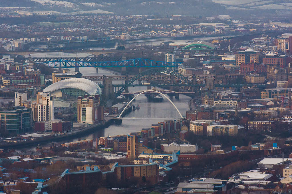 Newcastle from the sky