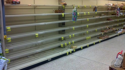 Empty Shelves after a Storm