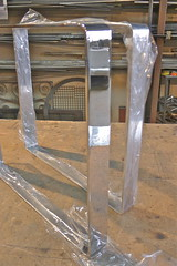 Mirror Polished Stainless Steel Legs for a Nightstand