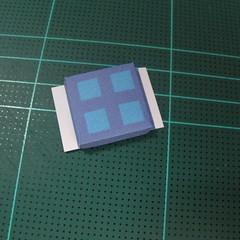 วิธีทำโมเดลกระดาษเป็นรูปบ้าน (Little House Papercraft Model) 007