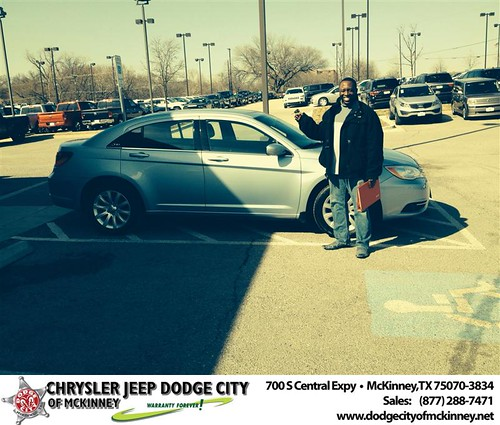 Thank you to Andre Warr on your new 2013 #Chrysler #200 from Dale Graham Graham and everyone at Dodge City of McKinney! #NewCar by Dodge City McKinney Texas