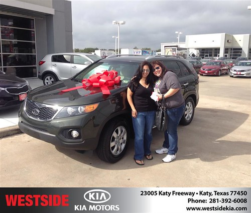 Thank you to Dora-Maria Campa-Maciel on your new 2012 #Kia #Sorento from Rick Hall and everyone at Westside Kia! #NewCar by Westside KIA