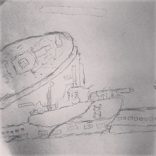submarine sketch