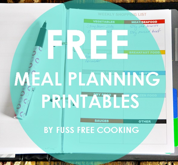 photo relating to A5 Planner Printable known as Activity . Organised] Free of charge Printables upon Evening meal Creating