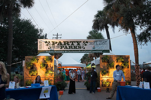 Rustic Wood Backdrop - Party for the Parks 2013 (2)