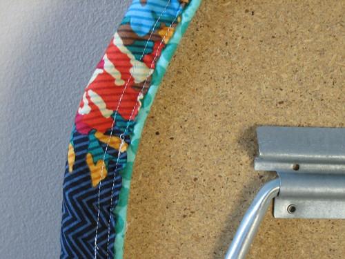 Drawstring casing with felled seam