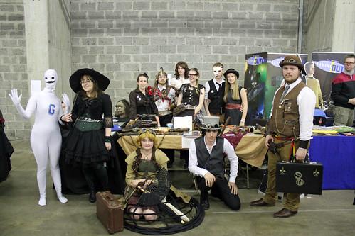 Artifakt + steampunk group shot