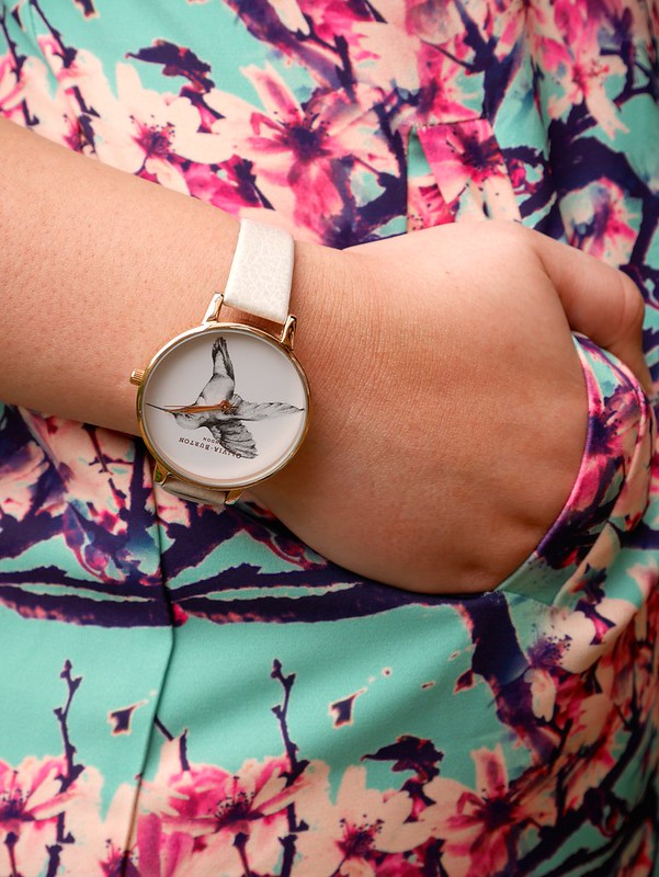 Olivia Burton Mink Hummingbird watch