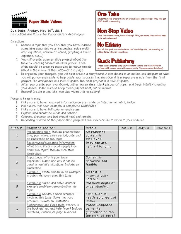 Instructions and Rubric
