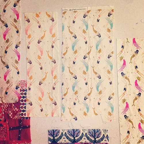 These are all the swimming sisters I have but I think it's enough for a quilt! GAH got to write this pattern!