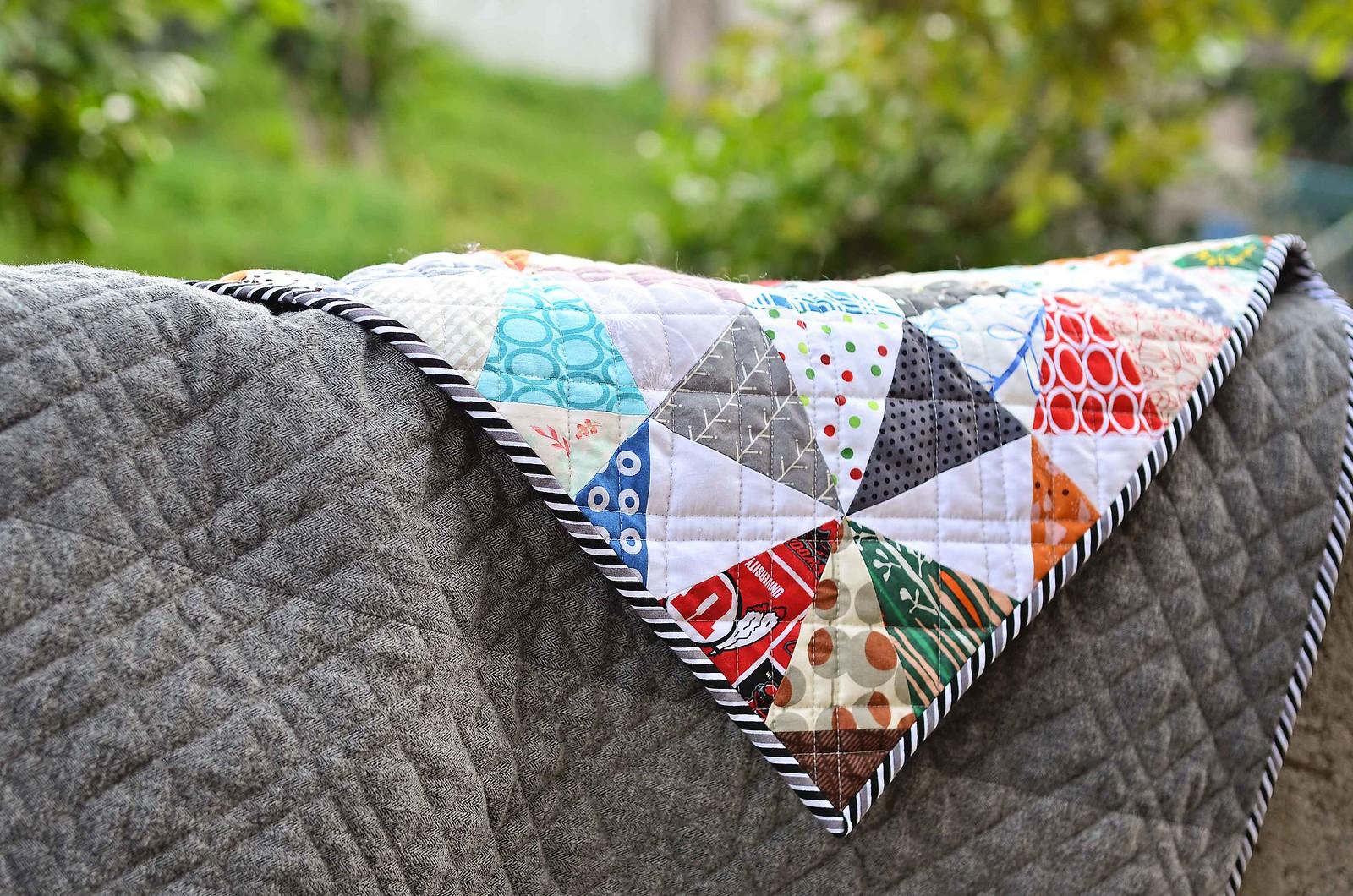scrappy kaleidoscope quilt backing