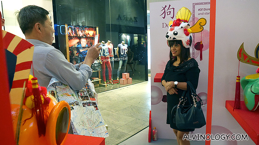 The Dog headdress is modelled after a dalmatian