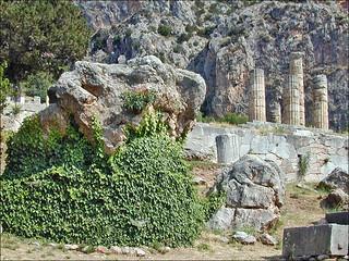 Le rocher de la Sibylle (Delphes, Grèce)