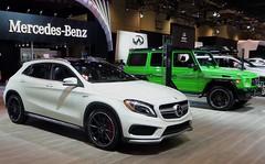 mercedes-benz gl-class(0.0), mercedes-benz m-class(0.0), volvo cars(0.0), automobile(1.0), exhibition(1.0), sport utility vehicle(1.0), wheel(1.0), vehicle(1.0), automotive design(1.0), compact sport utility vehicle(1.0), mercedes-benz(1.0), auto show(1.0), mercedes-benz a-class(1.0), compact car(1.0), land vehicle(1.0), luxury vehicle(1.0),