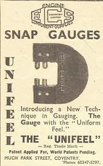 Unifeel Snap Gauges Advert