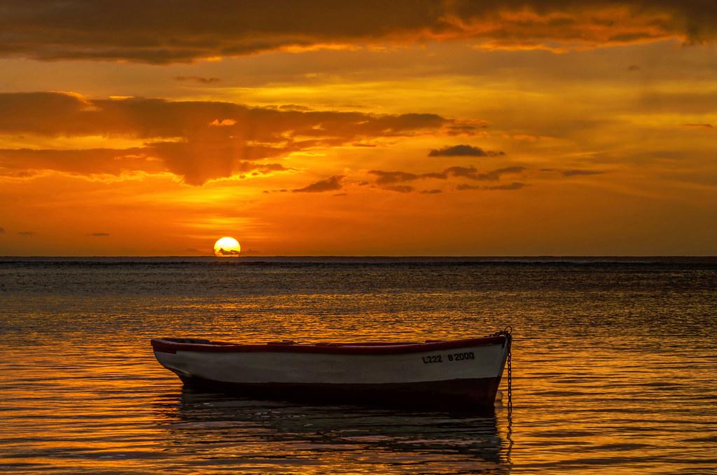 Sunset Mauritius ...