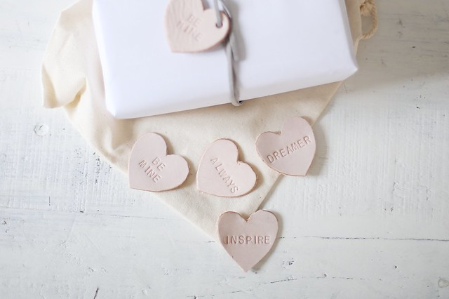 Valentines Leather Gift Toppers