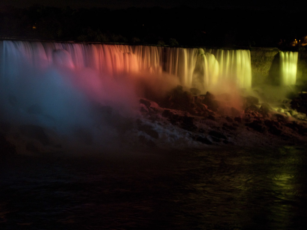 View of Niagara Falls (American Falls) at night