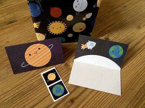 Solar System Gift Wrap Set