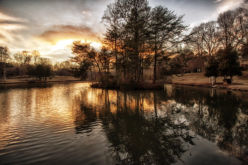 winter sunset lake canon reflections landscape photography raw northcarolina gastonia heatherlock dorameulman