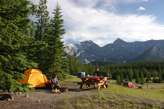 Tenting in Kananaskis Country