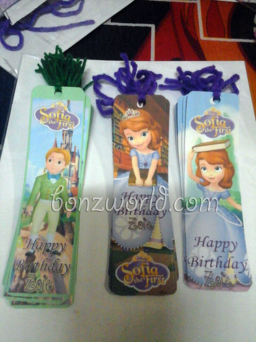 DIY Sofia the First Party Favor Bookmark01