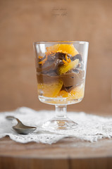 Sweet carob-orange cream