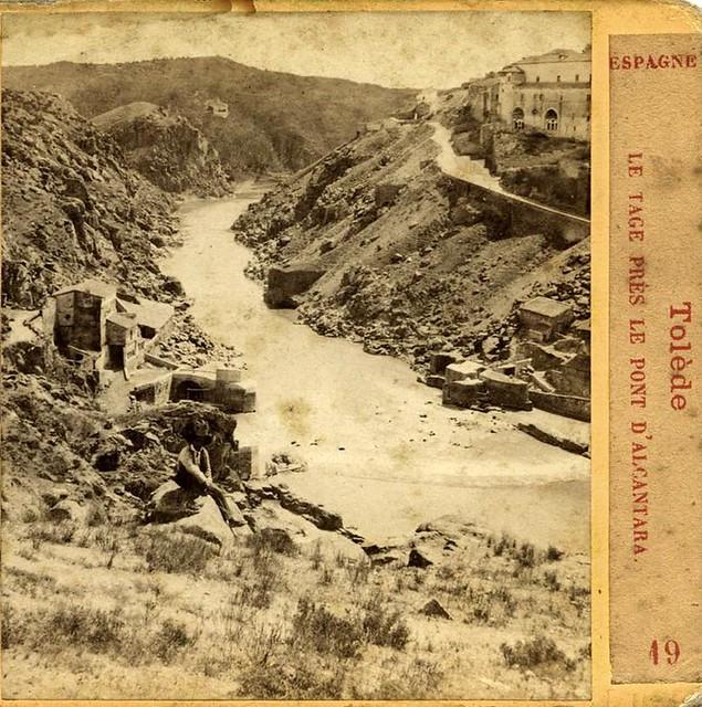 Torno del Tajo en 1863. Fotografía de Ernest Lamy. Colección Luis Alba