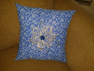 Baroque Noel - Poinsettia Pillow