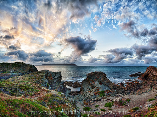 sunset sea newzealand summer beach nature clouds landscape rocks titahibay manaisland