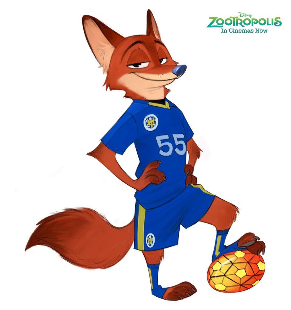 Nick Wilde @Leicester City Premier League By Disney_UK By @disney_uk