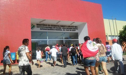 Camponeses do MPA ocupam sede do Ministério do Desenvolvimento Agrário, em Teresina
